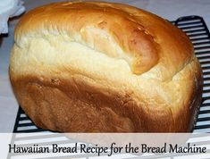 You'll love this Hawaiian Bread recipe for the bread machine! We found the crust… You'll love this Hawaiian Bread recipe for the bread machine! We found the crust to be extra flaky and the bread had a cake-like texture. Easy Bread Machine Recipes, Best Bread Machine, Bread Maker Recipes, Loaf Recipes, Bread Machine Hawaiian Bread Recipe, Best Sandwich Bread Machine Recipe, Bread Machine Challah Recipe, Bread Machine Rolls, Honey Recipes