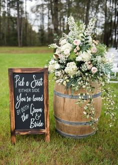 Pick a seat not a side chalkboard decal sign seating sign pick a seat sign wedding seating wedding signage wedding decor ceremony ideas backyard wedding seating layout chairs for chairs ideas layout seating wedding Wedding Ceremony Ideas, Wedding Signage, Wedding Reception Decorations, Wedding Table, Wedding Venues, Reception Seating, Outdoor Wedding Seating, Outdoor Ceremony, Wedding Backyard