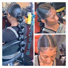 Leah 〽️onaè on Insta Hair Ponytail Styles, Weave Ponytail Hairstyles, Long Ponytails, Sleek Ponytail, Baddie Hairstyles, Hairstyles With Bangs, Curly Hair Styles, Natural Hair Styles, Birthday Hairstyles
