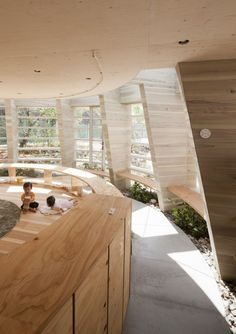 Two kids playing in the kindergarten #Architecture  #Educational #Modern