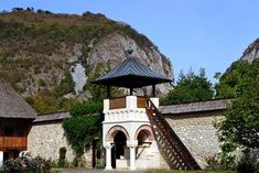 Polovragi monastery the Eastern Tower Romania, Gazebo, Scenery, Around The Worlds, Tower, Outdoor Structures, Adventure, Architecture, Road Trips