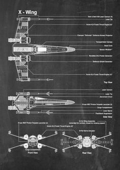 XWing Star Wars Patent Wall Art Poster by PatentPosters on Etsy, £4.00