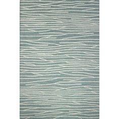 "Brayden Studio Luczak Hand-Tufted Aqua Area Rug Rug Size: 3'6"" x 5'6"""