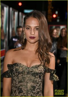Alicia Vikander & Walton Goggins Premiere 'Tomb Raider' in Los Angeles