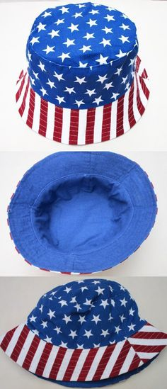 Free Shipping 2016 unisex outdoor chapeau Blue Star Stripe American Flag  Printed independance day bucket hats for women and men  7.99 746ee3171160