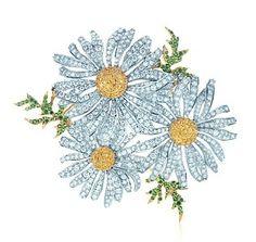 Tiffany daisy brooch