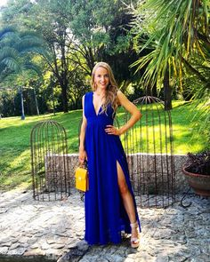 Royal blue dress from lulus. wedding dress outfit ideas