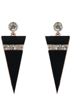 The drop earrings featuring triangel shape. Post back. Diamond Earrings, Drop Earrings, Full Figured Women, Plus Size Beauty, Plus Size Fashion, Triangle, Brooch, Virtual Closet, Crystals
