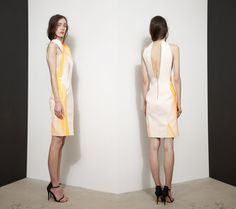 Dion Lee dress with orange rubber accents