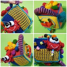 Развивающие игрушки ручной работы. Ярмарка Мастеров - ручная работа кубик- развивашка с секретиком под листочком. Handmade.