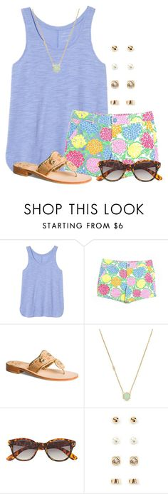 """Going through my closet... this might take some time"" by flroasburn ❤ liked on Polyvore featuring Banana Republic, Lilly Pulitzer, Jack Rogers, Cole Haan, H&M and Forever 21"