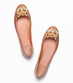 $250 omg kill me now, i so want these. Leather Fox Ballet Flat | Womens Flats | ToryBurch.com