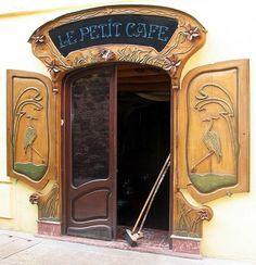 """coffeenuts: """" vintagehandsomemen:Art Nouveau door in Collioure, France. """""""