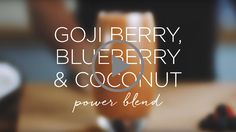 For the second part of our well-being series, juice master Jason Vale has mixed up another deliciously nutritious recipe for us;  the goji berry, blueberry and coconut power blend. Packed with antioxidants, this refreshing concoction is sure to awaken your senses and get you energised for those morning work-outs.