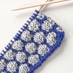 Bobble Stitch pattern now on the blog! #bobblestitch #noppenmuster #stricken #knitting #knittingsample