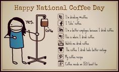 Because I love coffee and I am trying like everyone else to keep up with social media trends! Have a cup of joe and relax is my message today. Coffee Is Life, I Love Coffee, My Coffee, Coffee Time, Coffee Jokes, Coffee Sayings, Hr Humor, Social Media Humor, National Coffee Day
