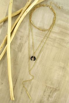 Daniela Multi Layer Horn Necklace