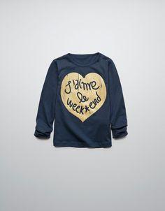 T-shirts - ZARA United States - I love weekends... me too!