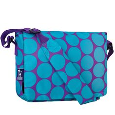 Big Dot Aqua Kickstart Messenger Bag - 41119