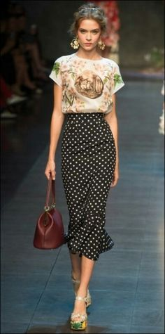 that print and polkadot combination is lovely