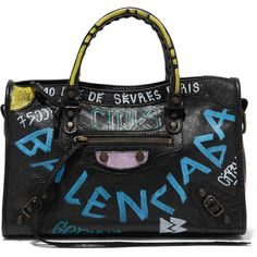 BalenciagaClassic City Printed Textured-leather Tote ( 1 b1820a6c3d6bc