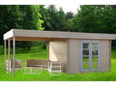Abri de jardin en bois 19,23 m² avec pergola