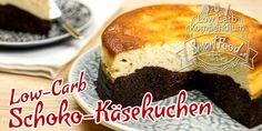 Low-Carb Schoko-Käsekuchen - Die perfekte Mischung aus Schokokuchen und Käsekuchen. Dunkel und Hell in leckerer Harmonie vereint. Saftig-süß ohne Zucker.