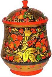 "E.Zaitseva.""Strawberries"" Khokhloma: type of Russian folk art/painting similar to lacquer and cinnabar stuff its so gorgeous!"