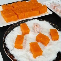 Havuçlu Lokum (Carrot Delight) by Köstliche Desserts, Delicious Desserts, No Gluten Diet, Turkish Recipes, Ethnic Recipes, Good Food, Yummy Food, Turkish Delight, Food Videos