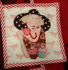 Bronwyn Hayes designer for Red Brolly Applique Patterns, Applique Quilts, Embroidery Applique, Embroidery Stitches, Quilt Patterns, Machine Embroidery, Embroidery Designs, Crazy Quilting, Anni Downs