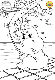 Cuties Coloring Pages for Kids - Free Preschool Printables - Slatkice Bojanke - Cute Animal Coloring Books by BonTon TV Free Printable Coloring Sheets, Coloring Sheets For Kids, Adult Coloring Book Pages, Cute Coloring Pages, Disney Coloring Pages, Animal Coloring Pages, Coloring Books, Art Drawings For Kids, Easy Drawings