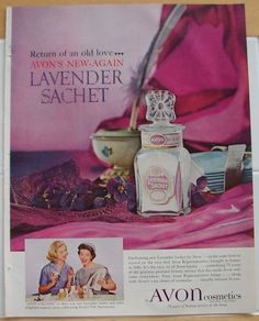 Avon Cosmetics Vintage 1961 Lavender Sachet ~still have Mom's lol