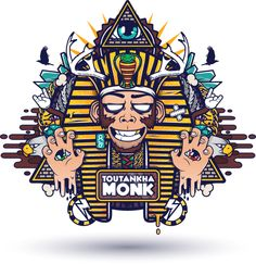Toutankha' Monk by Mnk Crew, via Behance