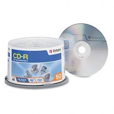 VER94691-CD-R 80MIN 700MB 52X -50PK by Verbatim. $20.71. CD-R 80MIN 700MB 52X BRANDED SURFACE 50PK SPINDLE