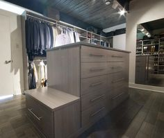 This closet is made for the simple living, young professionals. Through unique design and collaboration with the client, this closet was built to maximize space and functionality.| Ultimate Closet Systems | Custom Closets | Closet Organization | Closet Dream | Closet Design | Closet Storage | Closet Remodel | Master Closet