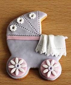 Fondant baby cookie.  galleta de bebe hecha con fondant
