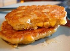 Amish Corn Fritters Recipe- perfect when corn comes into season this summer