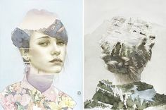 Spanish artist Oriol Angrill Jordà's series Blendscapes, created by watercolors, colored pencils, and graphite, take the form of double exposure photographs. The intricate details are impressive – pure magic!