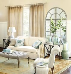 Small Living Room Seating Ideas Inspirational 8 Ways to Add Extra Seating to Your Room How to Decorate Living Room Setup, Small Space Living Room, Ottoman In Living Room, Living Room Seating, Living Room Colors, Living Room Grey, Formal Living Rooms, Living Room Lighting, Home And Living