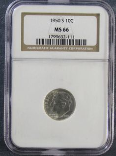 1950-S  **NGC MS66** Roosevelt Silver Dime : Uncirculated Dime
