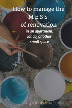 If you're in a small space, you need these ideas to manage the mess of renovation! >> At HoboMama.com