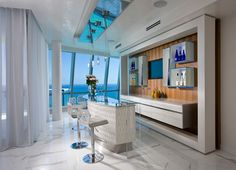 Home sports bar home bar contemporary with marble floor bar stools white curtains custom furniture