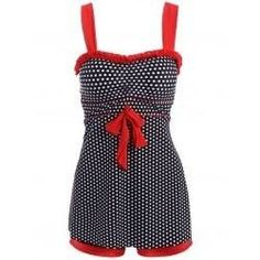 Chic Polka Dot Printed Dress and Boxers Swimming Suit For Women