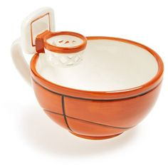 MAX'IS Creations 'mug with a hoop' Cup featuring polyvore, home, kitchen & dining, drinkware, orange, oz cup, orange mug, soup cups, oversized soup mugs and ceramic soup mug