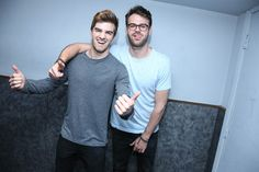 Alex Pall Photos Photos - NYC based DJs Andrew Taggart and Alex Pall, of The Chainsmokers backstage at the MTV Artist To Watch Event With Flume and The Chainsmokers at Highline Ballroom on April 14, 2014 in New York City. - MTV Artist to Watch Live Show
