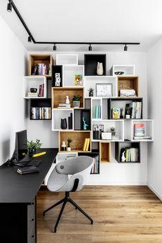 Rustic Home Office Design Ideas. Hence, the demand for house offices.Whether you are intending on including a home office or renovating an old room into one, right here are some brilliant home office design ideas to help you start. Office Shelving, Office Shelf, Home Office Setup, Home Office Organization, Shelving Units, Office Ideas, Shelving Ideas, Bookshelf Ideas, Bookshelves