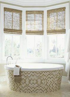 Bamboo Shades in Bathroom