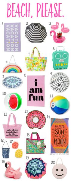 Donut pool towels, flamingo drink coasters, and watermelon beach balls?  Yes, please! I've rounded up the CUTEST beach essentials, including the best towels, coolers, pool toys, and more!
