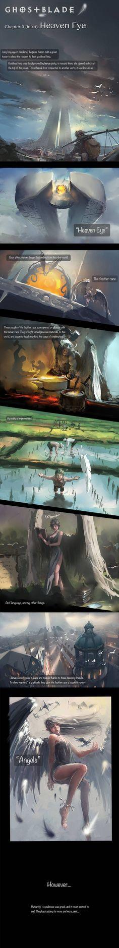 GhostBlade :: Chapter 0 (Intro): Heaven Eye | Tapastic Comics - image 1