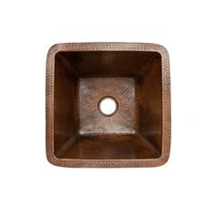 """Premier Copper Products 15"""" x 15"""" Square Hammered Copper Bar Sink"""